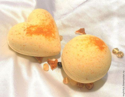 """Бомбы для ванны ручной работы. Ярмарка Мастеров - ручная работа. Купить Бомбочки для ванной """"Витамин радости"""". Handmade. Желтый, ванная"""