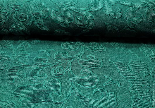 Аппликации, вставки, отделка ручной работы. Ярмарка Мастеров - ручная работа. Купить трикотаж плательный жаккард 1183 зеленый. Handmade.