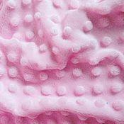 Ткани ручной работы. Ярмарка Мастеров - ручная работа Ткань Плюш Минки нежно-розовый для шитья и творчества. Handmade.