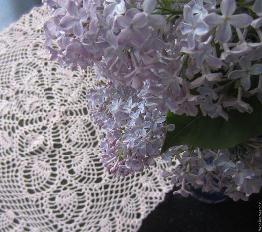 Текстиль, ковры ручной работы. Ярмарка Мастеров - ручная работа. Купить Скатерть  65х65см  квадратная. Handmade. Белый, накидка