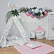 Детский вигвам Фламинго. Палатка. Шалаш.