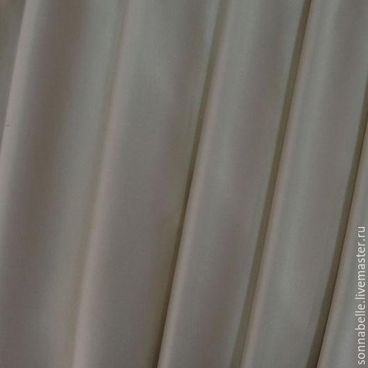 Шитье ручной работы. Ярмарка Мастеров - ручная работа. Купить Ткань портьерная Сатен Шёлк Светло-бежевый. Handmade. Разноцветный