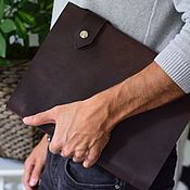 Канцелярские товары handmade. Livemaster - original item Leather notebook A4 with magnetic buttons made of genuine leather. Handmade.