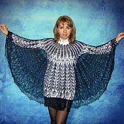 Ponchos handmade. Livemaster - original item Dark blue poncho,Hand knitted poncho,Crochet poncho,Warm poncho. Handmade.