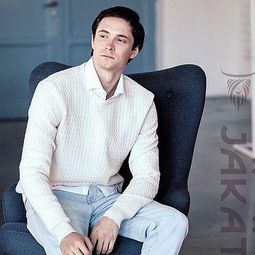 Clothing handmade. Livemaster - original item Jerseys: Cashmere sweater white