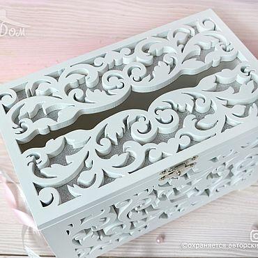 Свадебный салон ручной работы. Ярмарка Мастеров - ручная работа Свадебный деревянный сундучок в серебре. Handmade.