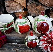 """Сервизы ручной работы. Ярмарка Мастеров - ручная работа Набор """"Гранат"""" для кухни.Керамика.Авторская работа. Handmade."""