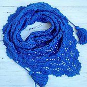 Аксессуары ручной работы. Ярмарка Мастеров - ручная работа Бактус вязаный  ярко-синий. Handmade.