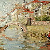 Картины и панно handmade. Livemaster - original item Venice - scarlet sails. Handmade.