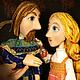 Кукольный театр ручной работы. Ярмарка Мастеров - ручная работа. Купить Пётр и Феврония. Театральная планшетная кукла. Кукольный спектакль. Handmade.
