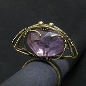 Украшения handmade. Livemaster - original item Transformer Ring - Pendant talisman ring with amethyst this stylish pendant. Handmade.