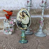 Подарки к праздникам handmade. Livemaster - original item Easter egg interior Madonna and child. Handmade.