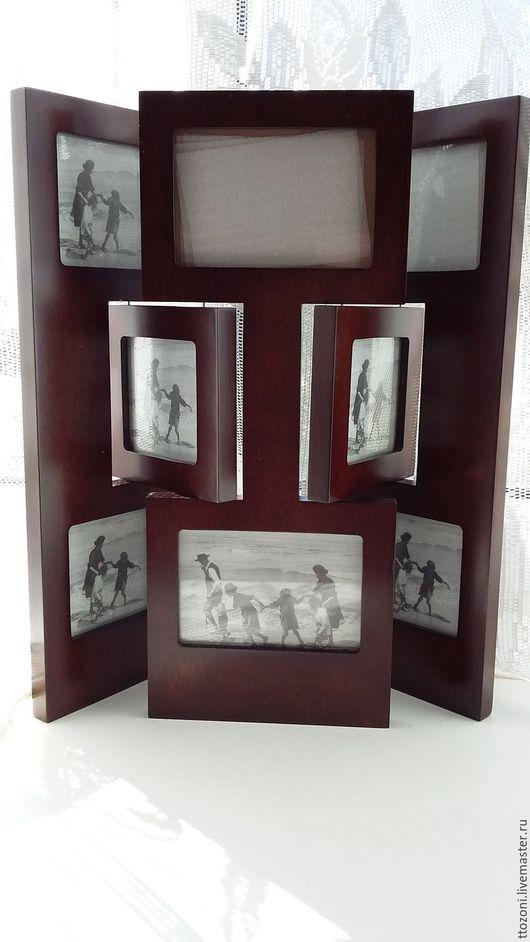 Винтажные предметы интерьера. Ярмарка Мастеров - ручная работа. Купить Рамка  из дерева на 8 фотографий. Винтаж Голландия. Handmade.
