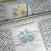 Для дома и интерьера ручной работы. Ярмарка Мастеров - ручная работа Комплект для кроватки новорожденного Бортики Кармашек Именная подушка. Handmade.