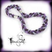Necklace handmade. Livemaster - original item Transformer! Harness beaded necklace and bracelet Trio in lilac. Handmade.