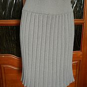 """Одежда ручной работы. Ярмарка Мастеров - ручная работа Вязаная юбка """"плиссе"""". Handmade."""