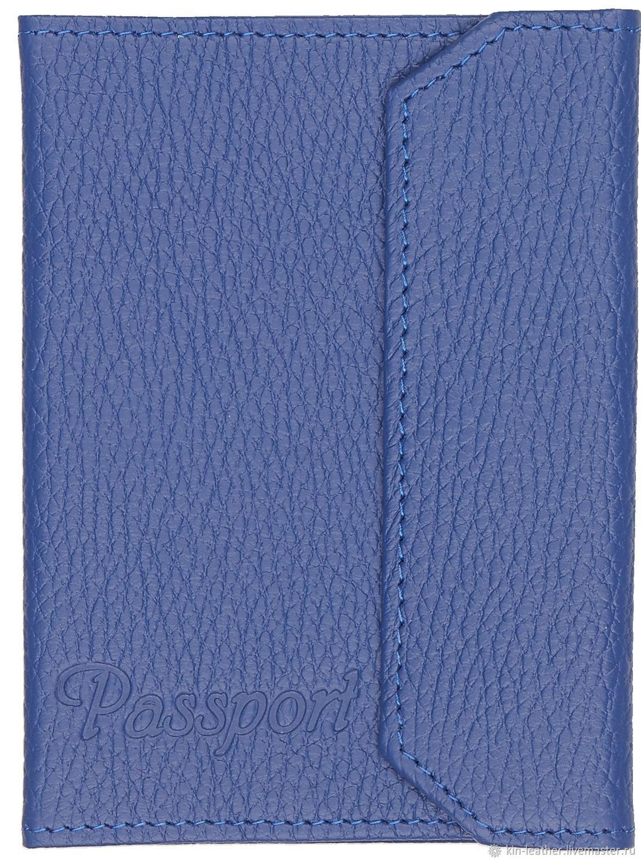 Обложка для паспорта с кнопкой, Обложки, Москва,  Фото №1
