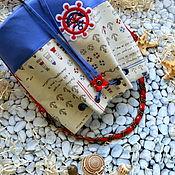 """Работы для детей, handmade. Livemaster - original item Сумка для девочки """"Морское путешествие"""".. Handmade."""