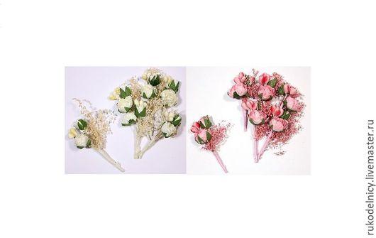 Цветки из бумаги БУКЕТИК С РОЗОЧКАМИ