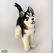 Подарки к праздникам handmade. Livemaster - original item puppy husky ice (toy from felt). Handmade.