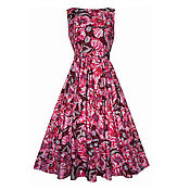 Одежда ручной работы. Ярмарка Мастеров - ручная работа Платье Poppies (бордо). Handmade.