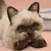 Мягкие игрушки ручной работы. Ярмарка Мастеров - ручная работа Сиамская кошка Фиона. Handmade.