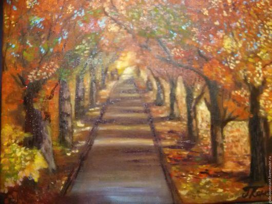 Пейзаж ручной работы. Ярмарка Мастеров - ручная работа. Купить Золотая осень. Handmade. Осень золотая, импрессионизм, ярко