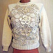 Одежда ручной работы. Ярмарка Мастеров - ручная работа Джемпер вязаный женский.. Handmade.