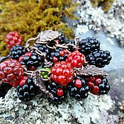 """Украшения ручной работы. Ярмарка Мастеров - ручная работа Браслет лэмпворк """"Blackberry"""". Handmade."""