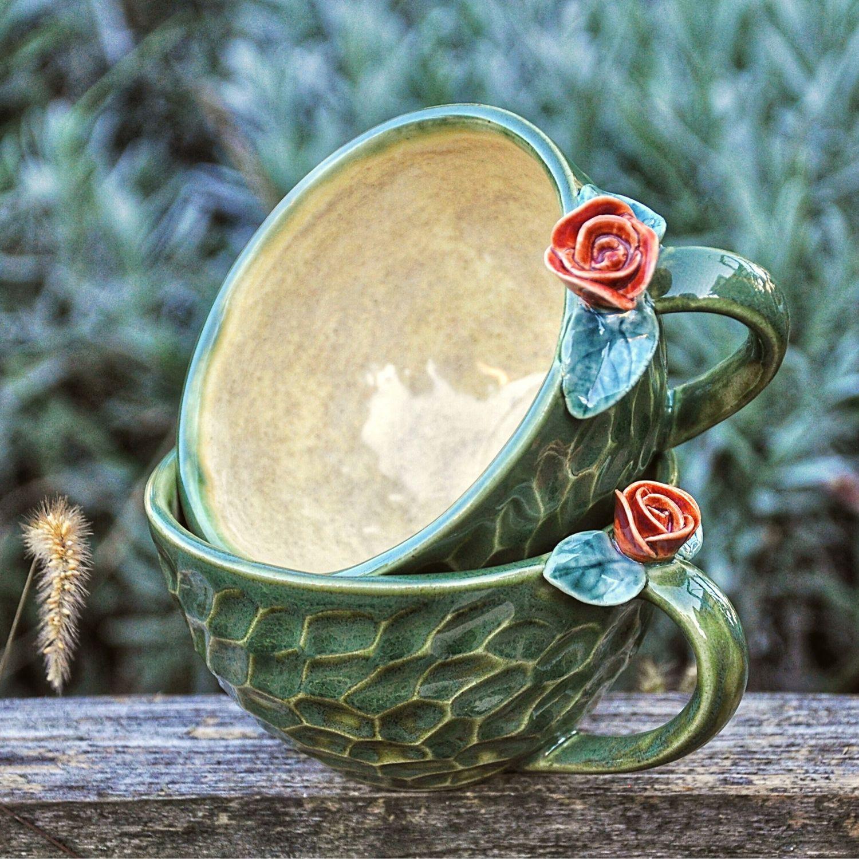 Керамические чашки Свежесть весны, Кружки и чашки, Краснодар,  Фото №1