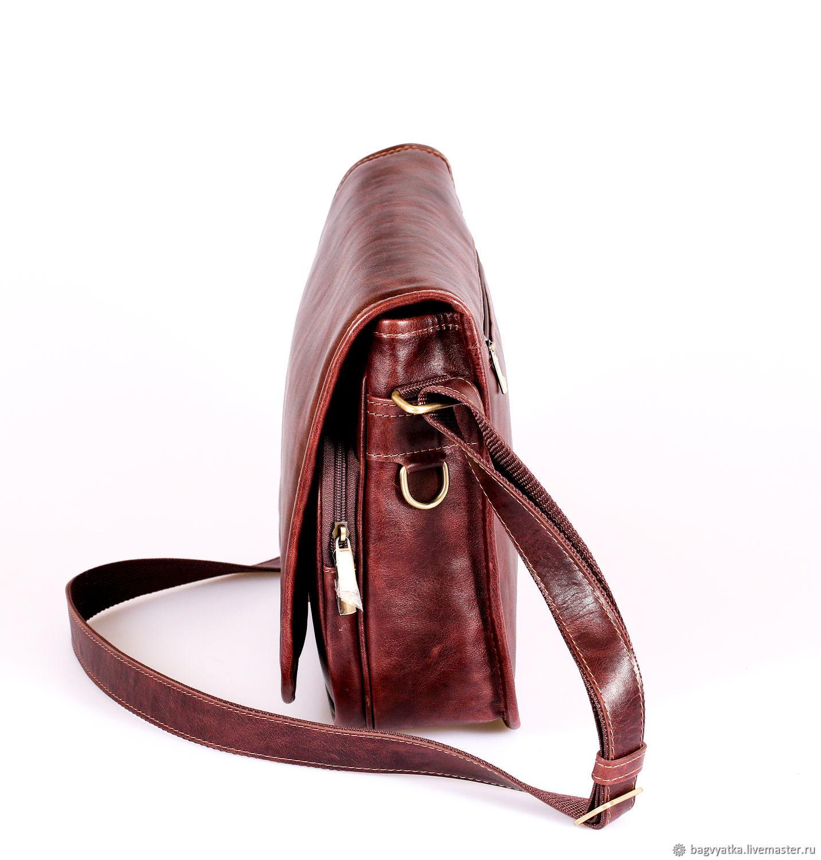f9c1bc1612d1 Мужская кожаная сумка Fabrizio