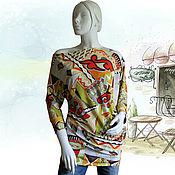Одежда ручной работы. Ярмарка Мастеров - ручная работа Кофта-туника из трикотажа Etro. Handmade.