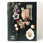 """Канцелярские товары ручной работы. Ярмарка Мастеров - ручная работа Ежедневник """"Шанель 2"""". Handmade."""