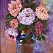 Картины и панно handmade. Livemaster - original item Oil painting. Still Life Roses.. Handmade.