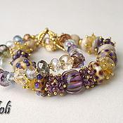 Украшения handmade. Livemaster - original item Bracelet from stones of the City of gold. Handmade.