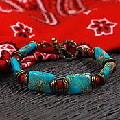 Украшения ручной работы. Ярмарка Мастеров - ручная работа Браслет Мазендеран, браслет в восточном стиле, бирюзовый браслет, бохо. Handmade.