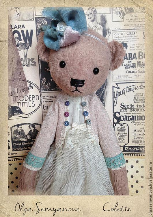 Мишки Тедди ручной работы. Ярмарка Мастеров - ручная работа. Купить Колетт. Handmade. Бледно-розовый, ручная работа handmade