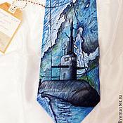 """Аксессуары ручной работы. Ярмарка Мастеров - ручная работа Галстук мужской шелковый """"Подводная лодка"""". Handmade."""
