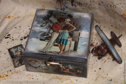 Подарки для мужчин, ручной работы. Ярмарка Мастеров - ручная работа. Купить Mon cheri -2. Handmade. Голубой, пин-ап