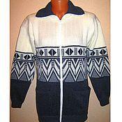 Одежда handmade. Livemaster - original item Knitted jacket with zip Scandinavia. Handmade.