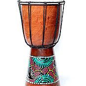 Музыкальные инструменты ручной работы. Ярмарка Мастеров - ручная работа Джамбе с росписью 30 см. Handmade.