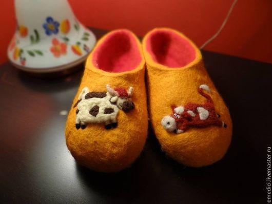 Обувь ручной работы. Ярмарка Мастеров - ручная работа. Купить Тапки валяные. Handmade. Тапочки, тапочки для девочки