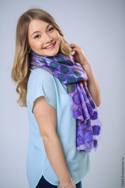 """Шали, палантины ручной работы. Ярмарка Мастеров - ручная работа. Купить шарф палантин """"сиреневая нежность"""". Handmade. Сиреневый"""