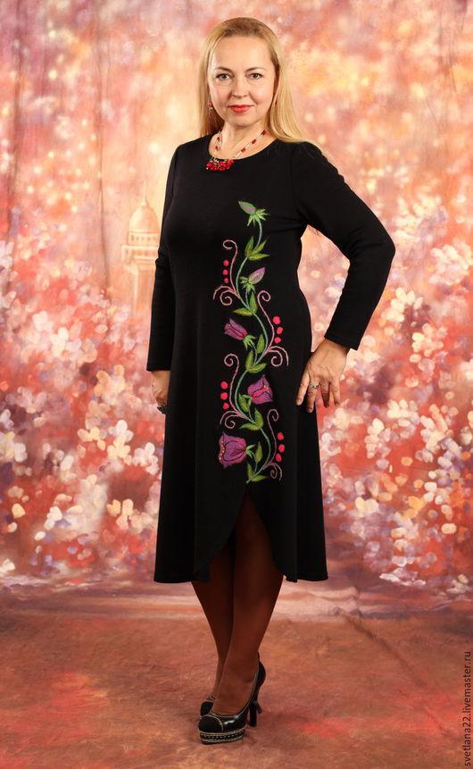 """Платья ручной работы. Ярмарка Мастеров - ручная работа. Купить Платье трикотажное """" Душистый горошек"""", платье авторское, нарядное. Handmade."""
