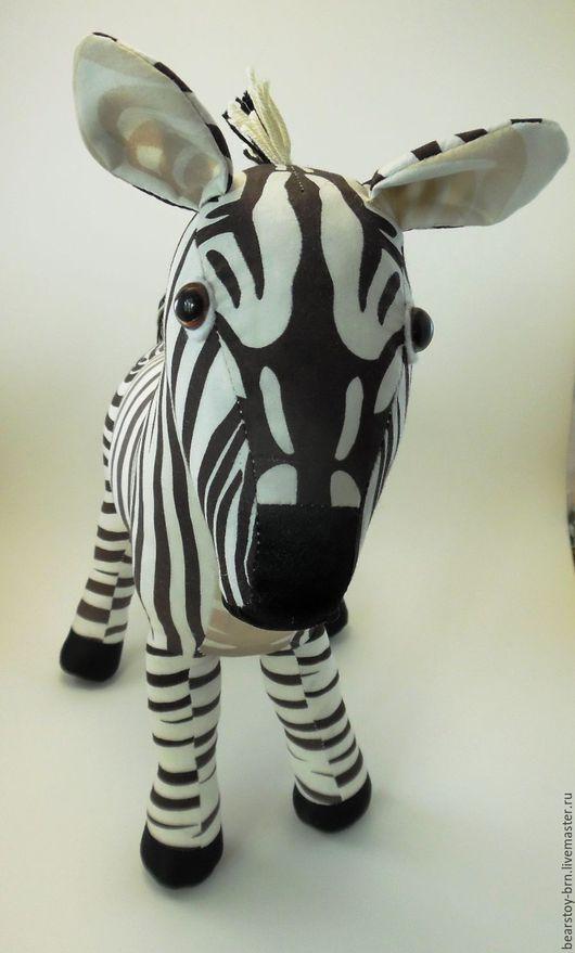 Игрушки животные, ручной работы. Ярмарка Мастеров - ручная работа. Купить Зебра. Handmade. Чёрно-белый, зебры, игрушка, ткань