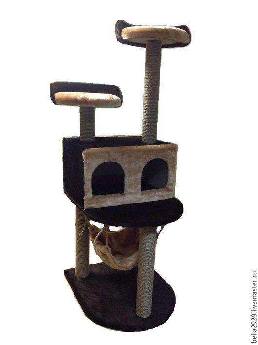 """Аксессуары для кошек, ручной работы. Ярмарка Мастеров - ручная работа. Купить Домик для кошек """"Конура двойная на ножках с гамаком"""". Handmade."""