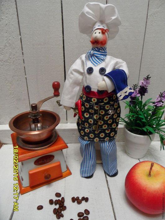 Куклы Тильды ручной работы. Ярмарка Мастеров - ручная работа. Купить тильда - повар текстильный. Handmade. Подарок, тильда подарок