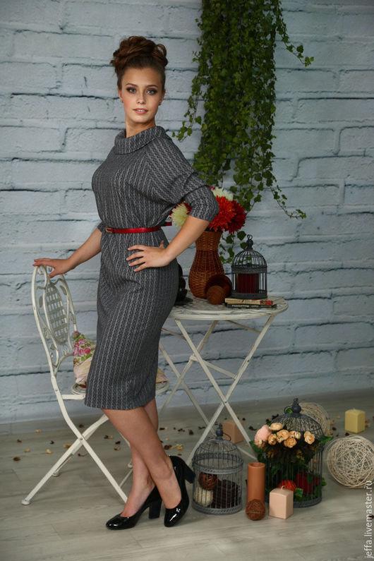 Платья ручной работы. Ярмарка Мастеров - ручная работа. Купить Платье Косички  арт.5453. Handmade. Серый, стильная одежда