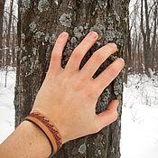 Украшения handmade. Livemaster - original item Leather bracelet with engraved moonlight Sonata. Handmade.