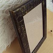 Сувениры и подарки handmade. Livemaster - original item Photo frame black with gold. Handmade.